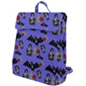Goth Bat Floral Flap Top Backpack View1