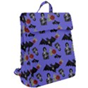 Goth Bat Floral Flap Top Backpack View2
