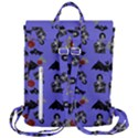 Goth Bat Floral Flap Top Backpack View3