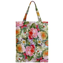 Flowers Pattern Zipper Classic Tote Bag by goljakoff