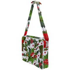 Red Berries Pattern Cross Body Office Bag by goljakoff