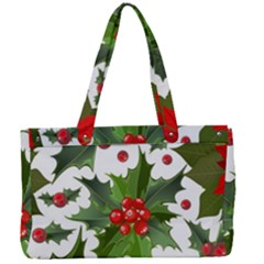Red Berries Pattern Canvas Work Bag by goljakoff