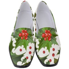 Red Berries Pattern Women s Classic Loafer Heels by goljakoff