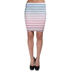 Horizontal Pinstripes In Soft Colors Bodycon Skirt by shawlin