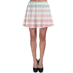 Horizontal Pinstripes In Soft Colors Skater Skirt by shawlin