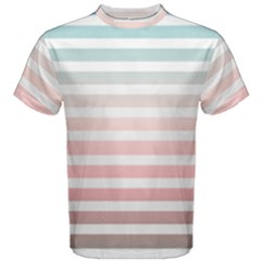 Horizontal Pinstripes In Soft Colors Men s Cotton Tee by shawlin