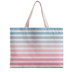 Horizontal Pinstripes In Soft Colors Mini Tote Bag by shawlin