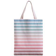 Horizontal Pinstripes In Soft Colors Classic Tote Bag by shawlin
