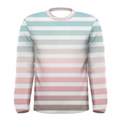 Horizontal Pinstripes In Soft Colors Men s Long Sleeve Tee by shawlin