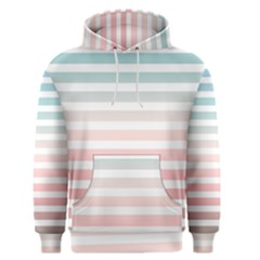 Horizontal Pinstripes In Soft Colors Men s Pullover Hoodie by shawlin