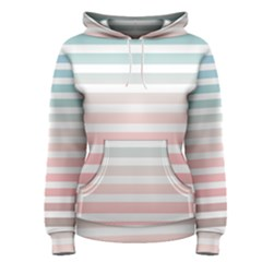 Horizontal Pinstripes In Soft Colors Women s Pullover Hoodie by shawlin