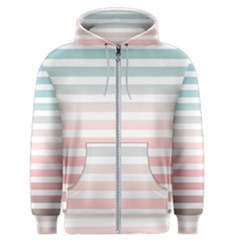 Horizontal Pinstripes In Soft Colors Men s Zipper Hoodie by shawlin