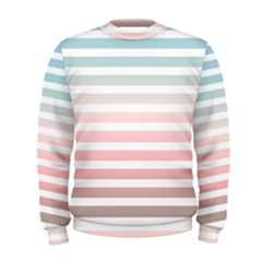 Horizontal Pinstripes In Soft Colors Men s Sweatshirt by shawlin