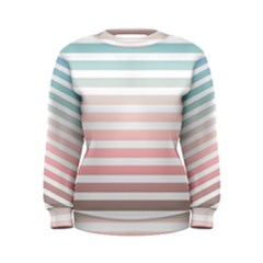 Horizontal Pinstripes In Soft Colors Women s Sweatshirt by shawlin
