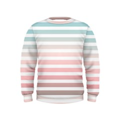 Horizontal Pinstripes In Soft Colors Kids  Sweatshirt by shawlin