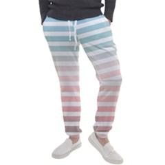 Horizontal Pinstripes In Soft Colors Men s Jogger Sweatpants by shawlin