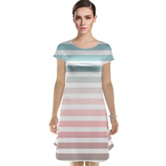 Horizontal Pinstripes In Soft Colors Cap Sleeve Nightdress by shawlin
