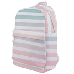 Horizontal Pinstripes In Soft Colors Classic Backpack by shawlin