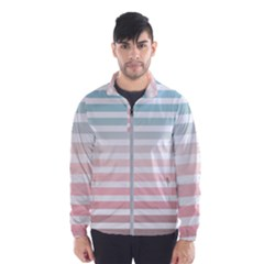 Horizontal Pinstripes In Soft Colors Men s Windbreaker by shawlin