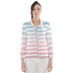 Horizontal Pinstripes In Soft Colors Women s Windbreaker by shawlin