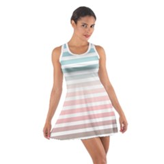 Horizontal Pinstripes In Soft Colors Cotton Racerback Dress by shawlin