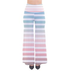Horizontal Pinstripes In Soft Colors So Vintage Palazzo Pants by shawlin