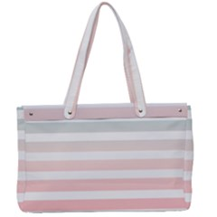 Horizontal Pinstripes In Soft Colors Canvas Work Bag by shawlin