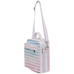 Horizontal Pinstripes In Soft Colors Crossbody Day Bag by shawlin