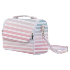 Horizontal Pinstripes In Soft Colors Satchel Shoulder Bag by shawlin
