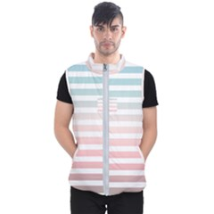 Horizontal Pinstripes In Soft Colors Men s Puffer Vest by shawlin
