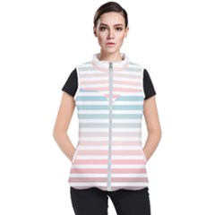 Horizontal Pinstripes In Soft Colors Women s Puffer Vest by shawlin