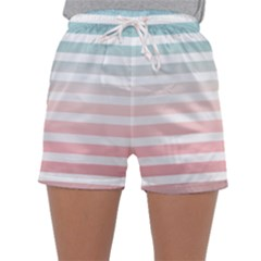 Horizontal Pinstripes In Soft Colors Sleepwear Shorts by shawlin