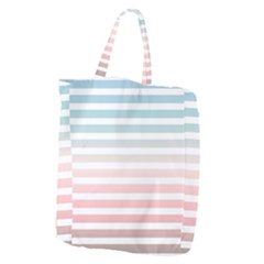 Horizontal Pinstripes In Soft Colors Giant Grocery Tote by shawlin