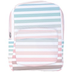 Horizontal Pinstripes In Soft Colors Full Print Backpack by shawlin