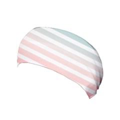 Horizontal Pinstripes In Soft Colors Yoga Headband by shawlin