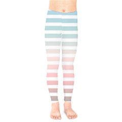 Horizontal Pinstripes In Soft Colors Kids  Legging by shawlin