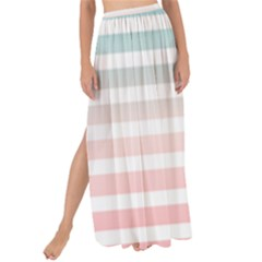 Horizontal Pinstripes In Soft Colors Maxi Chiffon Tie-up Sarong by shawlin