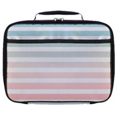 Horizontal Pinstripes In Soft Colors Full Print Lunch Bag by shawlin