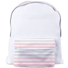 Horizontal Pinstripes In Soft Colors Giant Full Print Backpack