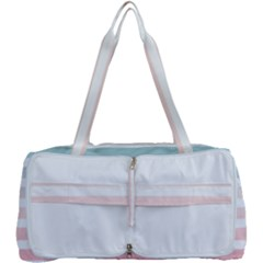 Horizontal Pinstripes In Soft Colors Multi Function Bag by shawlin