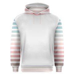 Horizontal Pinstripes In Soft Colors Men s Overhead Hoodie by shawlin