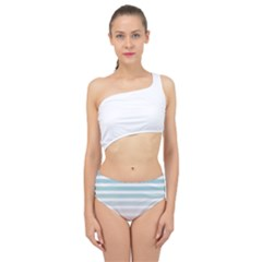 Horizontal Pinstripes In Soft Colors Spliced Up Two Piece Swimsuit by shawlin