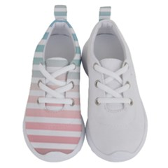 Horizontal Pinstripes In Soft Colors Kids  Lightweight Running Shoes by shawlin