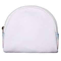 Horizontal Pinstripes In Soft Colors Horseshoe Style Canvas Pouch by shawlin