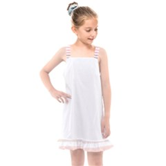 Horizontal Pinstripes In Soft Colors Kids  Overall Dress by shawlin