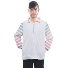 Horizontal Pinstripes In Soft Colors Men s Half Zip Pullover by shawlin