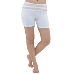 Horizontal Pinstripes In Soft Colors Lightweight Velour Yoga Shorts by shawlin