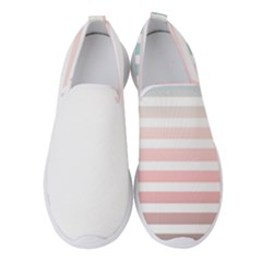 Horizontal Pinstripes In Soft Colors Women s Slip On Sneakers by shawlin