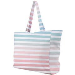 Horizontal Pinstripes In Soft Colors Simple Shoulder Bag by shawlin