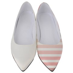 Horizontal Pinstripes In Soft Colors Women s Low Heels by shawlin